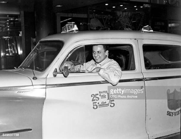 Aaron K Howard a New York cab driver who plays bit parts in television including the CBS drama 'The Web' drives a 1950 DeSoto Deluxe taxicab Image...