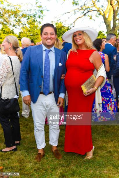 Aaron Kaufman and Amy Kauffman attend Southampton Hospital 59th Annual Summer Party on August 5 2017 in Southampton New York