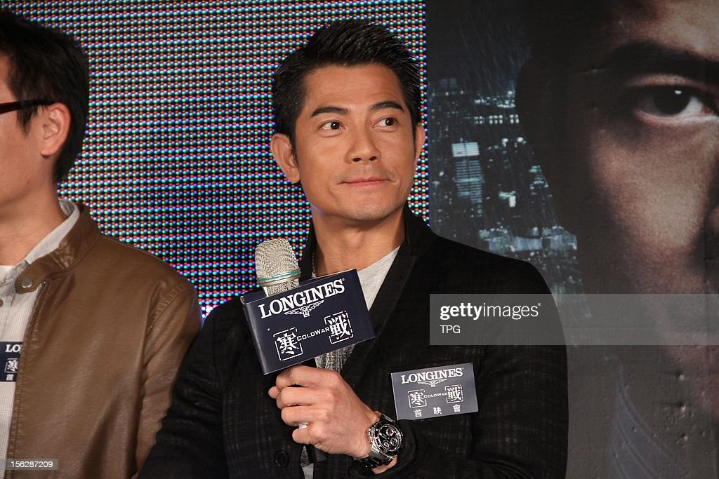 Aaron Kwok promoted movie Cold War on Monday November 12, 2012 in Taipei, Taiwan, China.