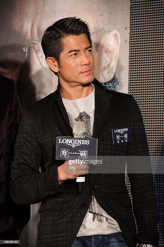 Aaron Kwok Promoted Movie Cold War On Monday November 12 2012 In News Photo Getty Images
