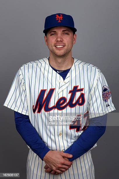 Aaron Laffey of the New York Mets poses during Photo Day on February 21 2013 at Mets Stadium in Port St Lucie Florida