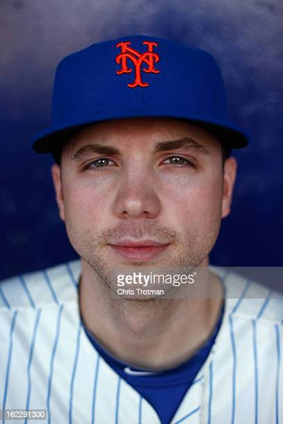 Aaron Laffey of the New York Mets poses for a photograph during spring training media photo day at Tradition Field on February 21 2013 in Port St...