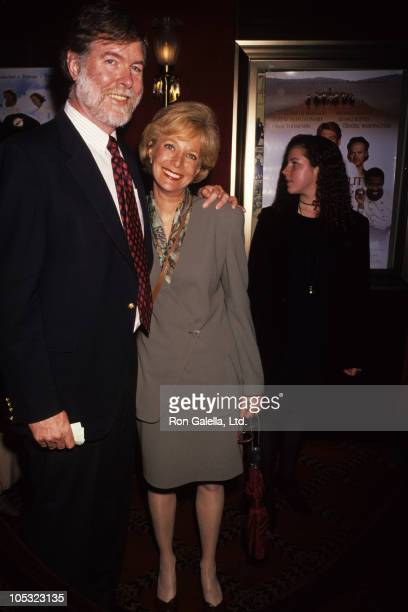Aaron Latham and Lesley Stahl during Much Ado About Nothing New York Premiere at Ziegfeld Theatre in New York City New York United States