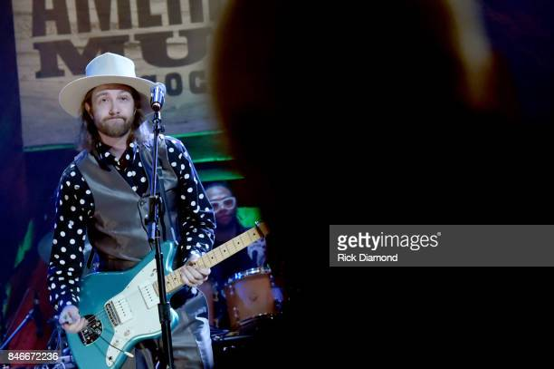 Aaron Lee Tasjan performs onstage during the 2017 Americana Music Association Honors Awards on September 13 2017 in Nashville Tennessee