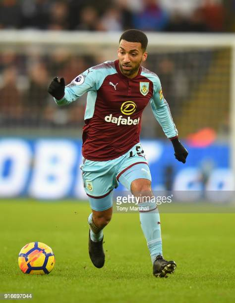 Aaron Lennon of Burnley during the Premier League match between Swansea City and Burnley at Liberty Stadium on February 10 2018 in Swansea Wales