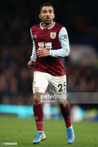 Aaron Lennon of Burnley in action during the Premier League match between Chelsea FC and Burnley FC at Stamford Bridge on January 11, 2020 in London,...