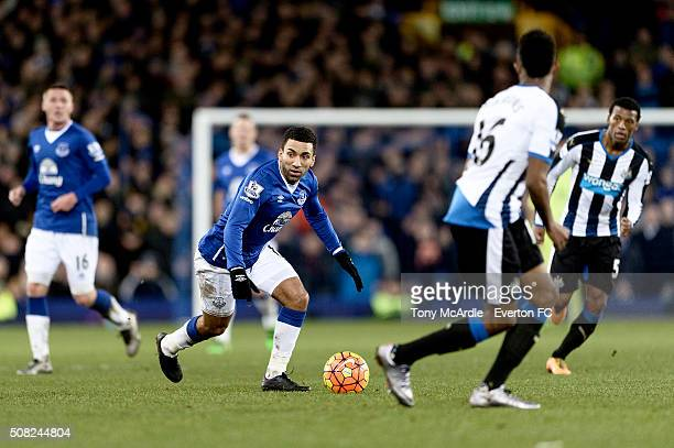 Aaron Lennon of Everton during the Barclays Premier League match between Everton and Newcastle United at Goodison Park on February 3 2016 in...