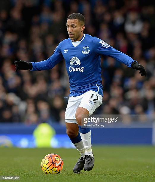 Aaron Lennon of Everton during the Barclays Premier League match between Everton and West Ham United at Goodison Park on March 5 2016 in Liverpool...