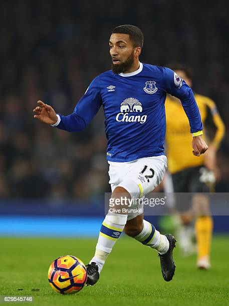 Aaron Lennon of Everton in action during the Premier League match between Everton and Arsenal at Goodison Park on December 13 2016 in Liverpool...