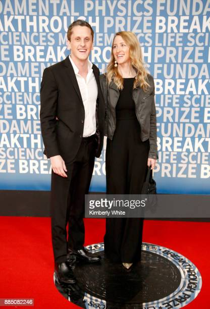 Aaron Levie and Joelle Emerson attend the 2018 Breakthrough Prize at NASA Ames Research Center on December 3, 2017 in Mountain View, California.