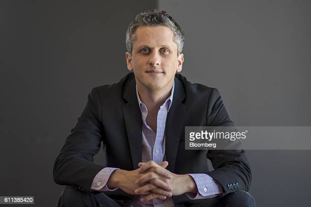 Aaron Levie, chief executive officer of Box Inc., sits for a photograph at the company's headquarters in Redwood City, California, U.S., on Monday,...