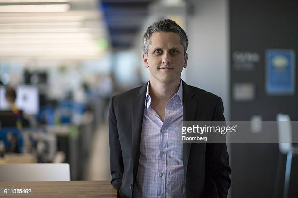 Aaron Levie, chief executive officer of Box Inc., stands for a photograph at the company's headquarters in Redwood City, California, U.S., on Monday,...