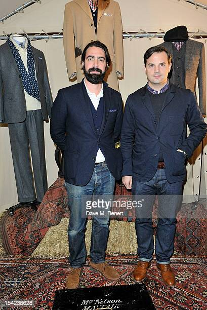 """Aaron Levine , Club Monaco's VP of Men's Design, and Michael Williams of 'A Continuous Lean' attend the launch of Club Monaco's """"Made In The USA""""..."""