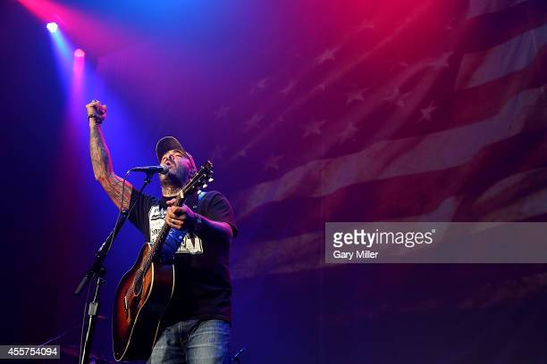 Aaron Lewis performs in concert at the Cedar Park Center on September 19 2014 in Cedar Park Texas