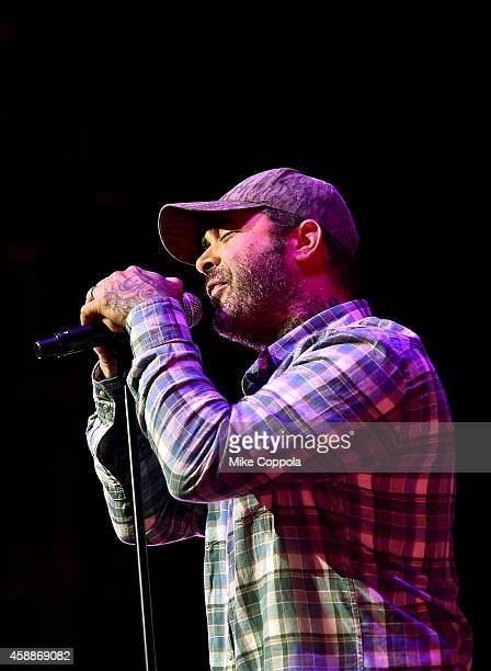 Aaron Lewis performs onstage at One More For The Fans Celebrating the Songs Music of Lynyrd Skynyrd at The Fox Theatre on November 12 2014 in Atlanta...