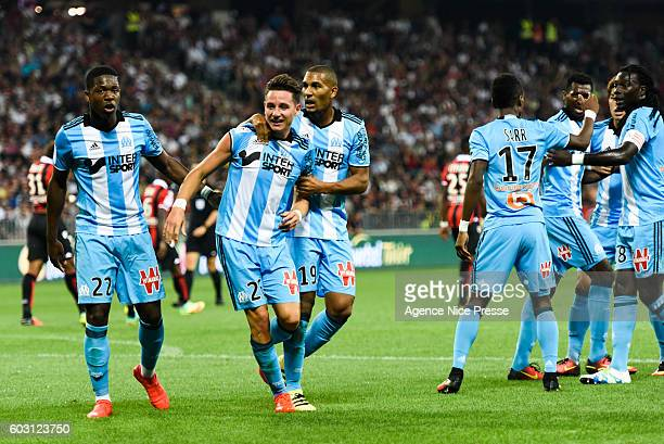 Aaron Leya Iseka Florian Thauvin and William Vainqueur of OM during the french Ligue 1 match between Ogc Nice and Olympique de Marseille at Allianz...