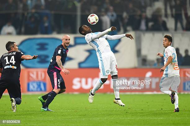 Aaron Leya Iseka of Marseille during the French Ligue 1 match between Marseille and Bordeaux at Stade Velodrome on October 30 2016 in Marseille France