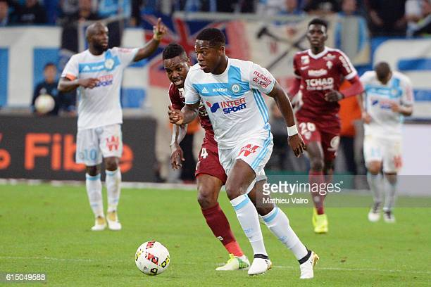 Aaron LEYA ISEKA of Marseille during the Ligue 1 match between Olympique de Marseille and FC Metz at Stade Velodrome on October 16 2016 in Marseille...