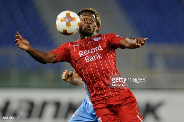Aaron Leya Iseka of SV Zulte Varegem in action during the UEFA Europa League group K match between SS Lazio and SV Zulte Waregem at Olimpico Stadium...