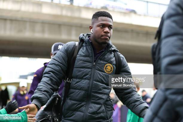Aaron Leya Iseka of Toulouse before the Ligue 1 match between Toulouse FC v Dijon FCO on December 2 2018 in Toulouse France