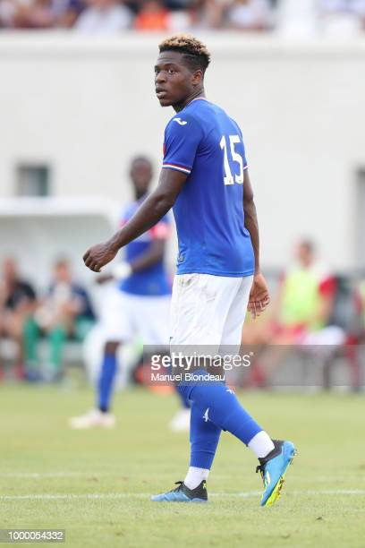 Aaron Leya Iseka of Toulouse during a friendly match between Toulouse and Ajaccio on July 14 2018 in Toulouse France