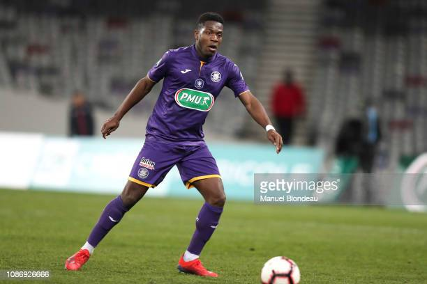 Aaron Leya Iseka of Toulouse during the French Cup match between Toulouse and Reims at Stadium Municipal on January 22 2019 in Toulouse France