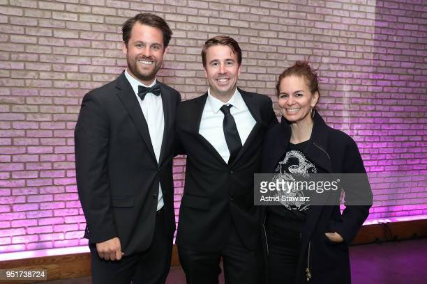 Aaron Lieber Daniel Mayfield and Carol Martori attend the 2018 Tribeca Film Festival awards night after party on April 26 2018 in New York City