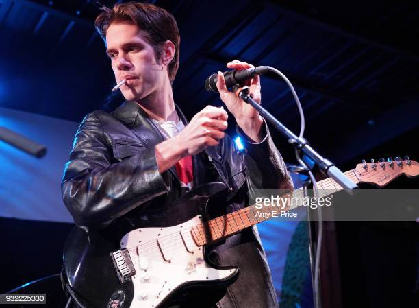 Aaron Maine of Porches performs onstage at Ground Control Touring during SXSW at Barracuda Backyard on March 14 2018 in Austin Texas