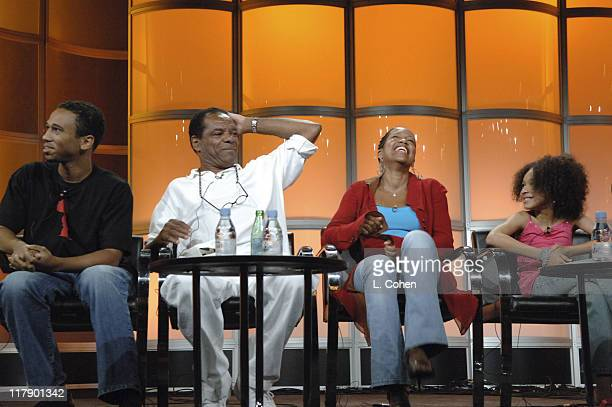 Aaron McGruder creator and executive producer John Witherspoon Regina King and Gabby Soleil of The Boondocks 9653_0571jpg