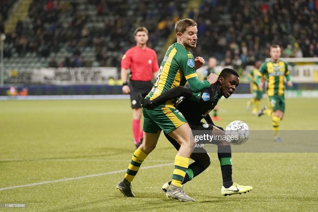 Aaron Meijers Of Ado Den Haag Joel Asoro Of Fc Groningen During The News Photo Getty Images