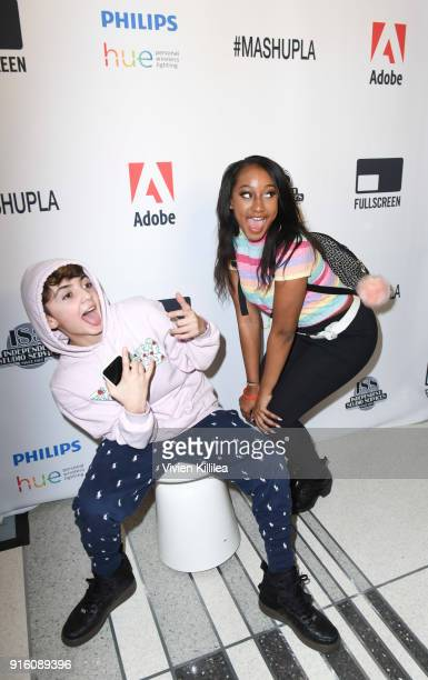 Aaron Melloul and Sydney Bourne attend Mashup LA Influencer Event on February 8 2018 in Playa Vista California Photo by Vivien Killilea/Getty Images...