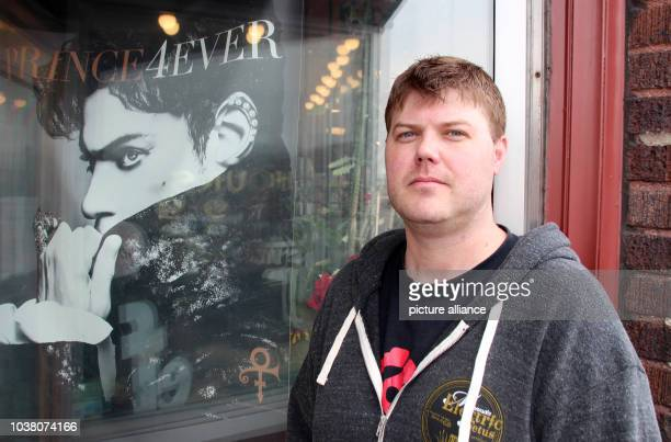 Aaron Meyerring owner of the 'Electric Fetus' record store stands outside of his shop in Minneapolis Minnesota USA 13 April 2017 On April 21st 2016...