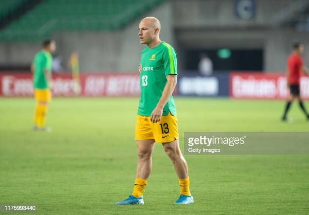 Aaron Mooy of Australia during practice prior to the FIFA World Cup Qatar 2022 and AFC Asian Cup China 2023 Preliminary Joint Qualification Round 2...