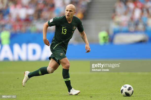 Aaron Mooy of Australia during the 2018 FIFA World Cup Russia group C match between Denmark and Australia at Samara Arena on June 21 2018 in Samara...