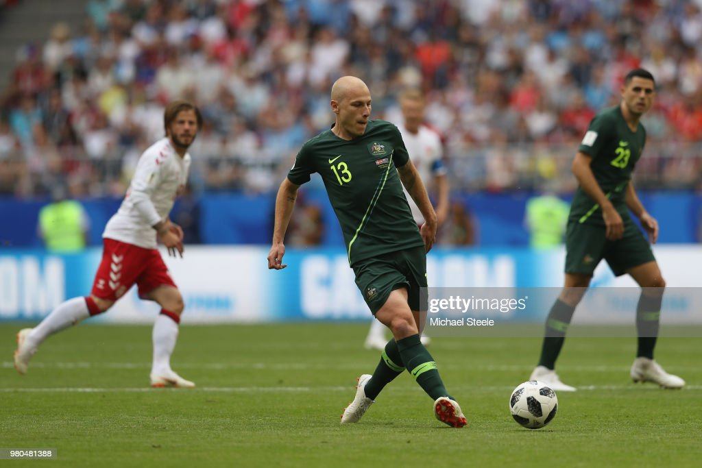 Denmark v Australia: Group C - 2018 FIFA World Cup Russia : ニュース写真
