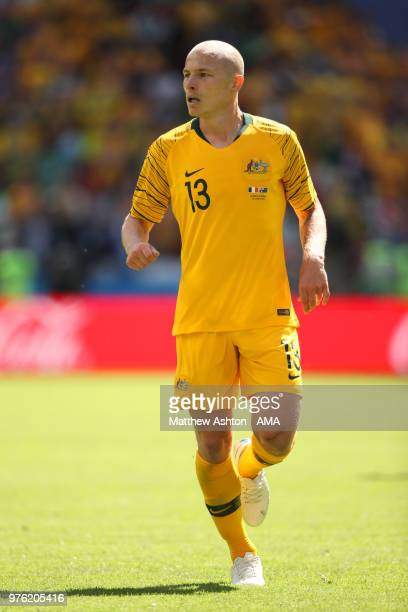 Aaron Mooy of Australia in action during the 2018 FIFA World Cup Russia group C match between France and Australia at Kazan Arena on June 16 2018 in...