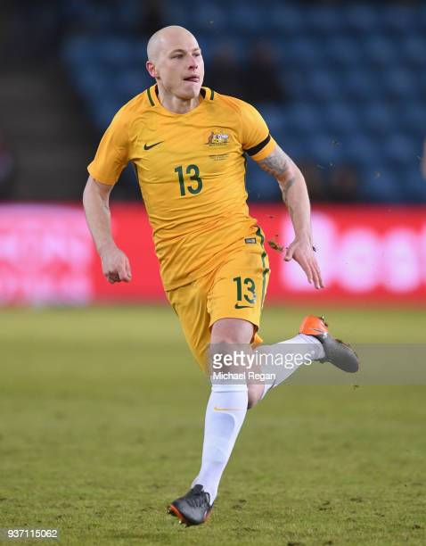 Aaron Mooy of Australia in action during the International Friendly match between Norway and Australia at Ullevaal Stadion on March 23 2018 in Oslo...