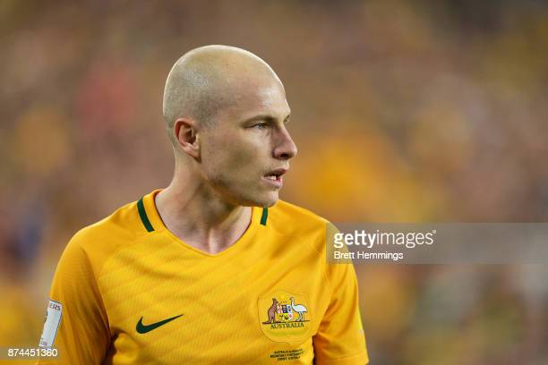 Aaron Mooy of Australia looks on during the 2018 FIFA World Cup Qualifiers Leg 2 match between the Australian Socceroos and Honduras at ANZ Stadium...