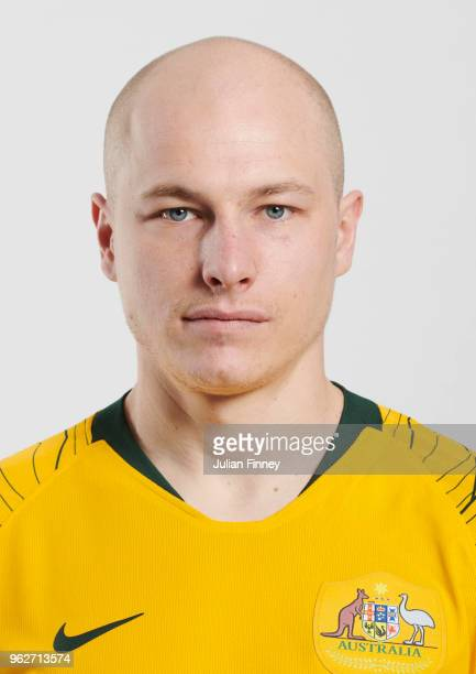 Aaron Mooy of Australia poses during the Australia 'Socceroos' Kit Launch on March 24 2018 in Oslo Norway
