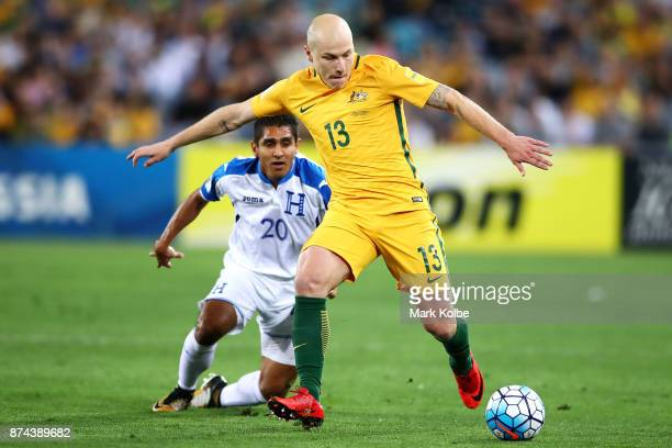 Aaron Mooy of Australia runs the ball during the 2018 FIFA World Cup Qualifiers Leg 2 match between the Australian Socceroos and Honduras at ANZ...