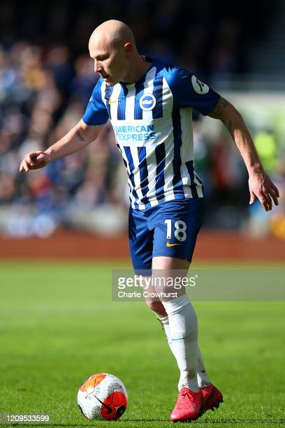 Aaron Mooy of Brighton attacks during the Premier League match between Brighton Hove Albion and Crystal Palace at American Express Community Stadium...
