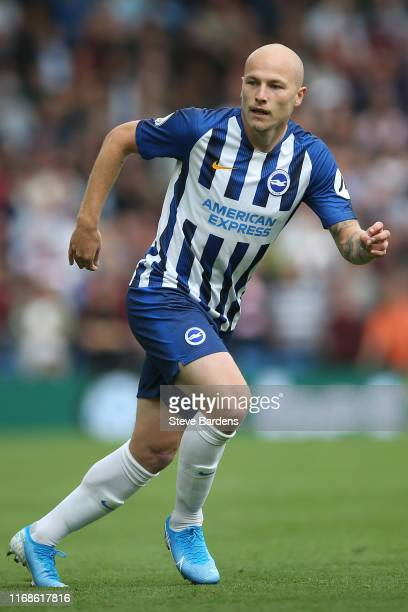 Aaron Mooy of Brighton Hove Albion during the Premier League match between Brighton Hove Albion and West Ham United at American Express Community...