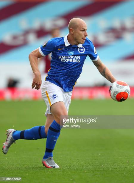 Aaron Mooy of Brighton Hove Albion runs with the ball during the Premier League match between Burnley FC and Brighton Hove Albion at Turf Moor on...