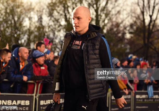 Aaron Mooy of Huddersfield Town arrives for the Premier League match between Huddersfield Town and Manchester City at John Smith's Stadium on...