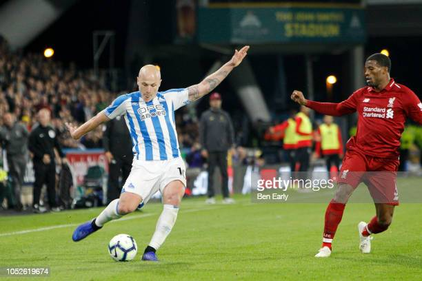 Aaron Mooy of Huddersfield Town during the Premier League match between Huddersfield Town and Liverpool FC at John Smith's Stadium on October 20 2018...