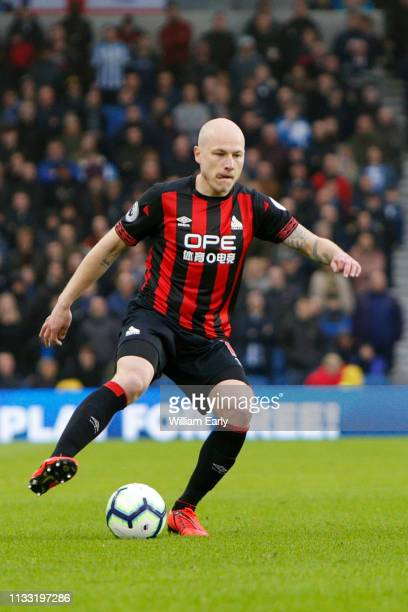 Aaron Mooy of Huddersfield Town during the Premier League match between Brighton Hove Albion and Huddersfield Town at American Express Community...