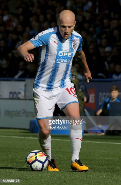 Aaron Mooy of Huddersfield Town during the Premier League match between Huddersfield Town and Leicester City at John Smith's Stadium on September 16...