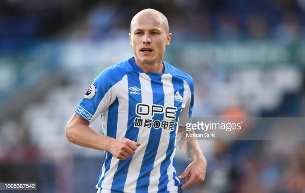 Aaron Mooy of Huddersfield Town in action during a preseason friendly match between Huddersfield Town and Olympique Lyonnais at John Smith's Stadium...