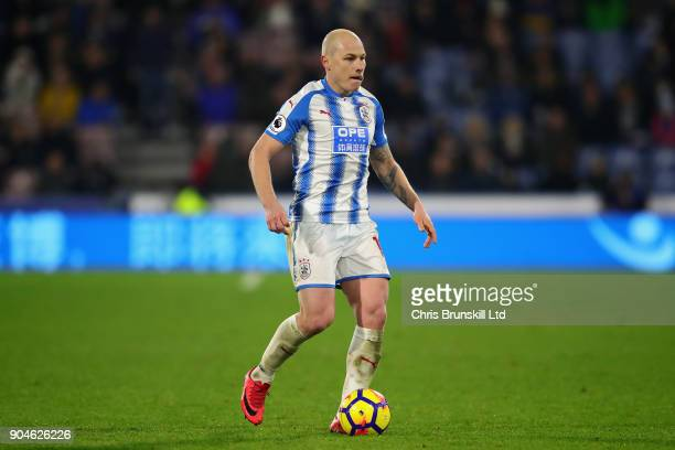 Aaron Mooy of Huddersfield Town in action during the Premier League match between Huddersfield Town and West Ham United at John Smith's Stadium on...
