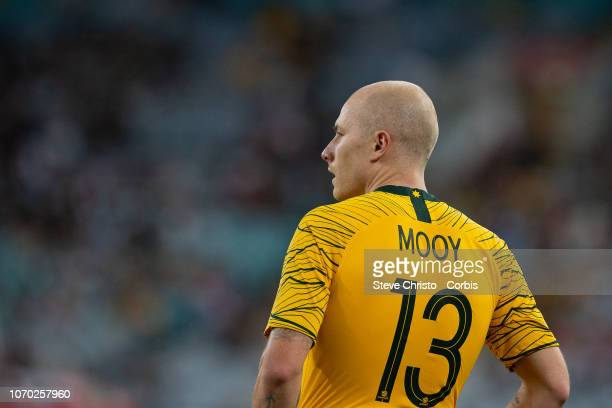 Aaron Mooy waits to take a corner during the International Friendly Match between the Australian Socceroos and Lebanon at ANZ Stadium on November 20...